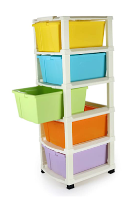 Clazkit 5 Layer Plastic Modular Drawer System to Organize Clutter in Home, Office and Workplace