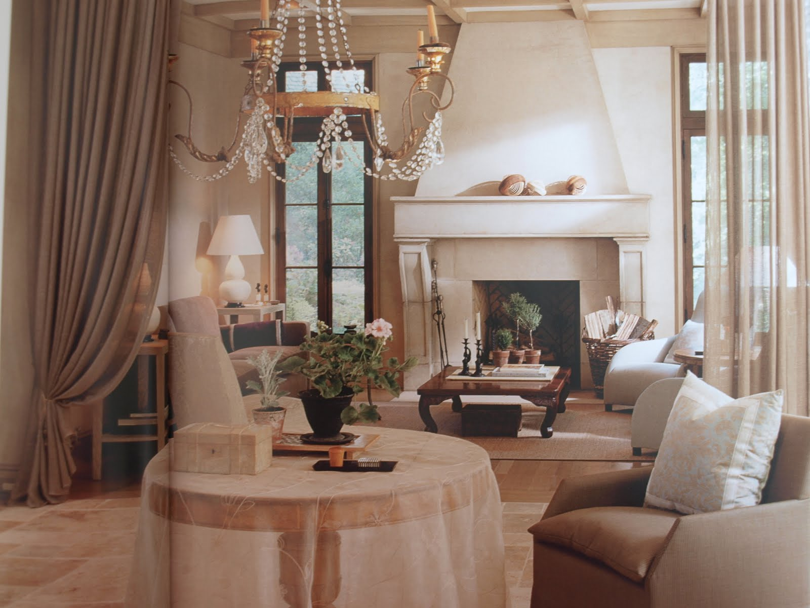 Elegant French inspired living room Solis Betancourt Washington D.C.