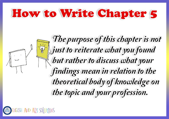 how to write chapter 5 research paper