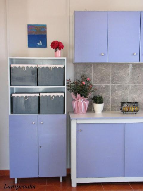 Ανακαίνιση εξοχικού,κουζίνα και ντουλάπια.