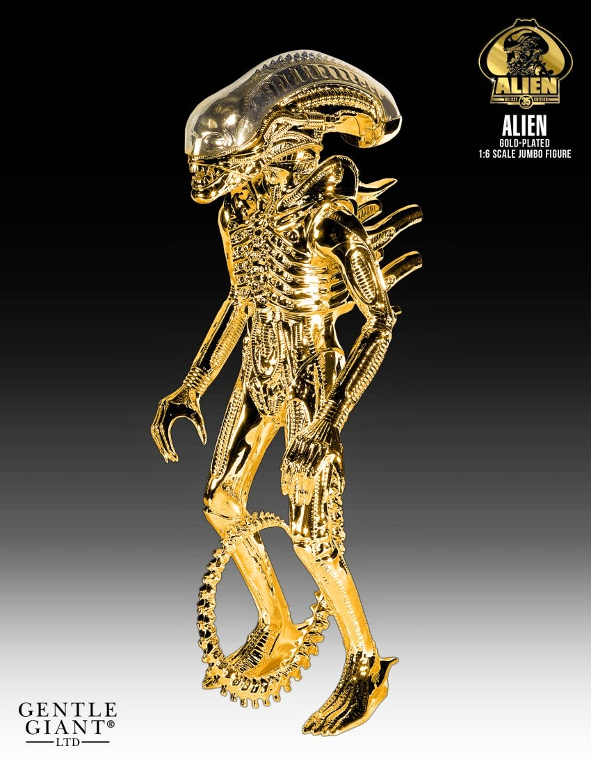 35th Anniversary Gold Vac-Metal Alien Vintage Kenner Jumbo Action Figure