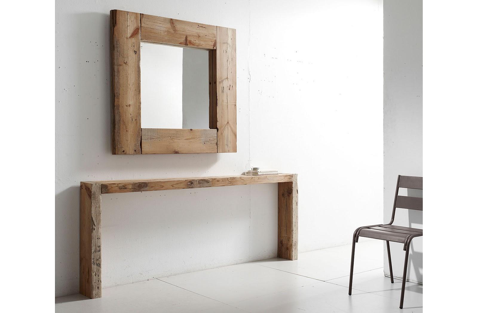 Deja que el estilo r stico de la madera maciza entre en tu - Muebles de madera maciza para salon ...
