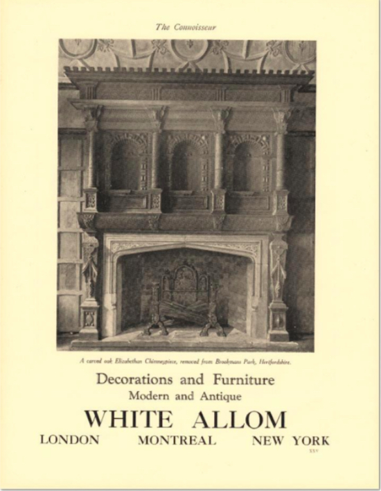 Photograph of the Connoisseur magazine cover  Image from the Peter Miller collection