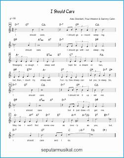 chord i should care lagu jazz standar