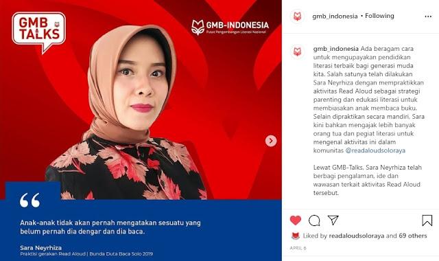 PRAKTISI READ ALOUD INDONESIA BUNDA BACA