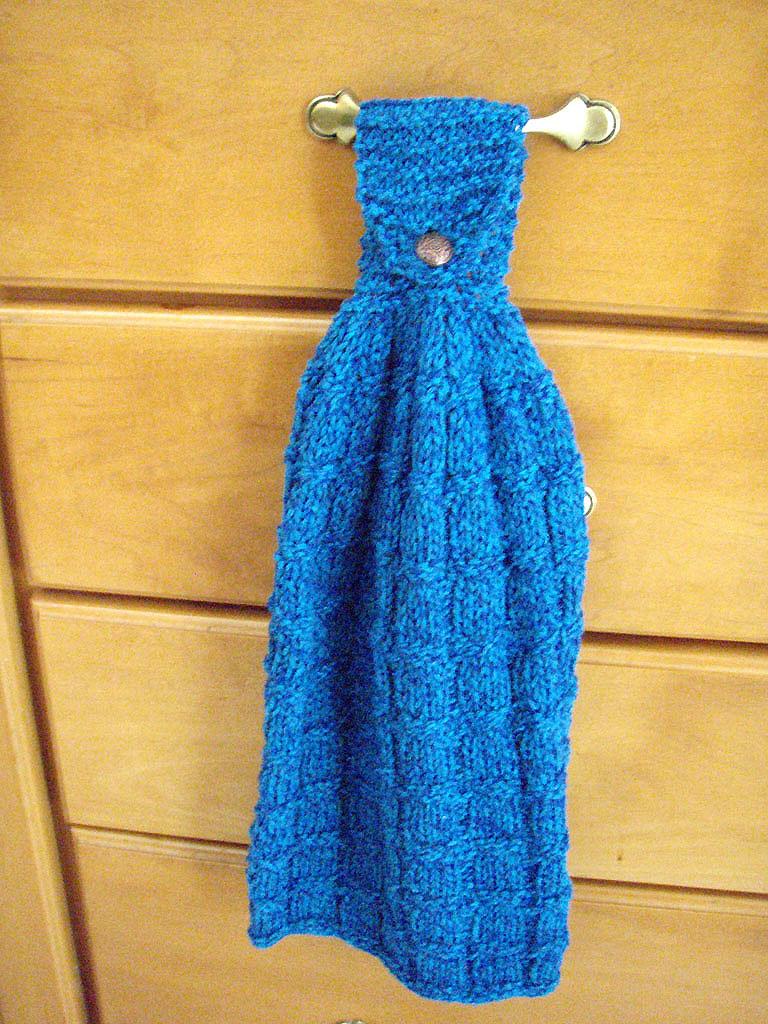 Ladynthread Knit Kitchen Hand Towel