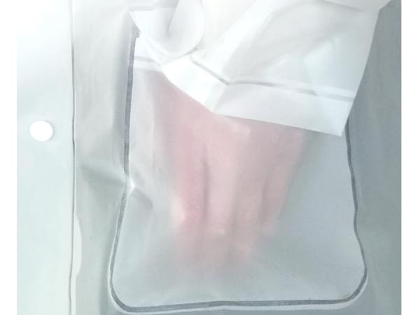 White see-through coat