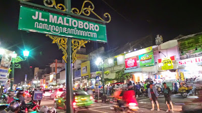 Malioboro street scene at night