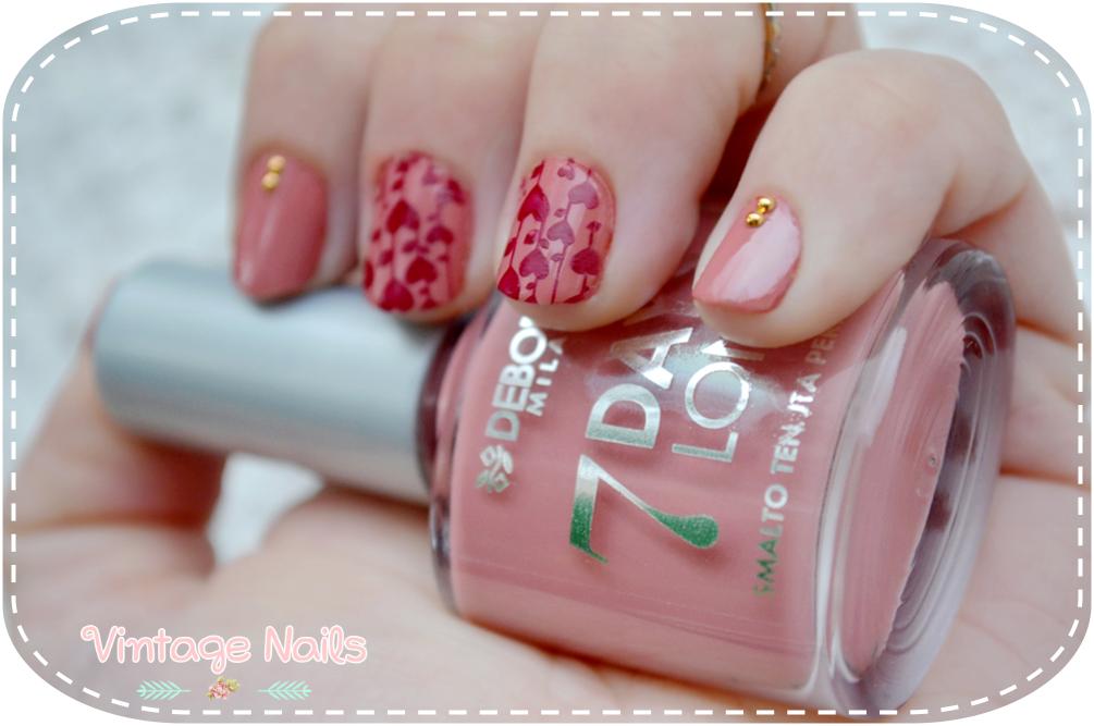 nail art, manicura, manicure, romantic nail art, Deborah Milano, MoYou