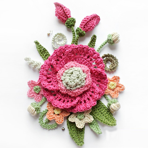 Crochet Bouquet of Flowers - Tutorial