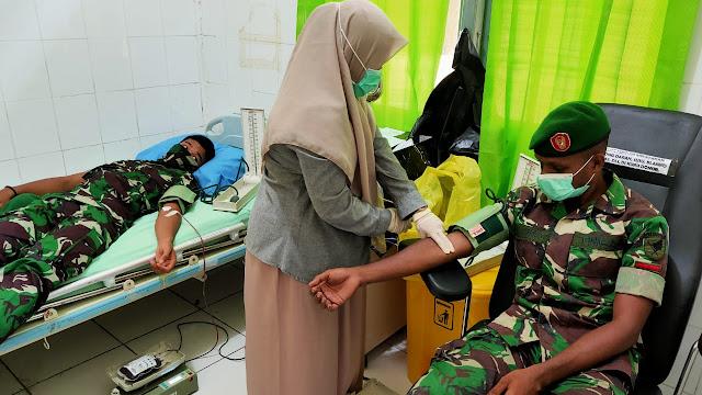 Melalui Donor, Kodam XII/Tpr Bantu PMI Stok Ketersediaan Darah