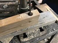 Drill 7/8 inch hole