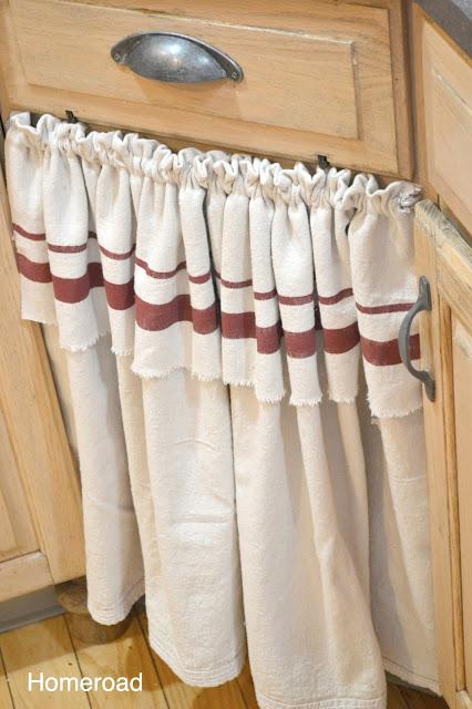 Skirt in place of cabinet door