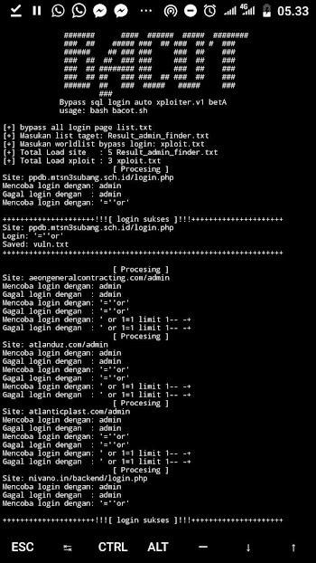 Tools | Bash Bypass Sql login + Auto Xploit  2019