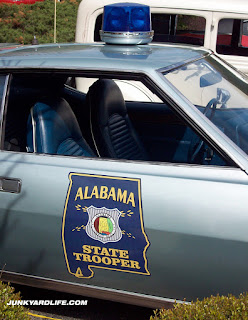 Alabama State Trooper decals are period correct on the 1972 Javelin SST.