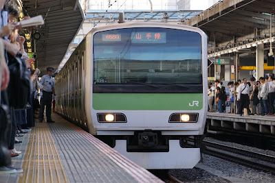 山手線池袋駅へ入線するE231系500番台