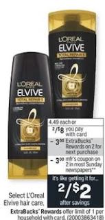 FREE L'Oreal Elvive Total Repair CVS Deal 9/12-9/18