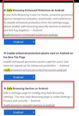 Protection améliorée Android