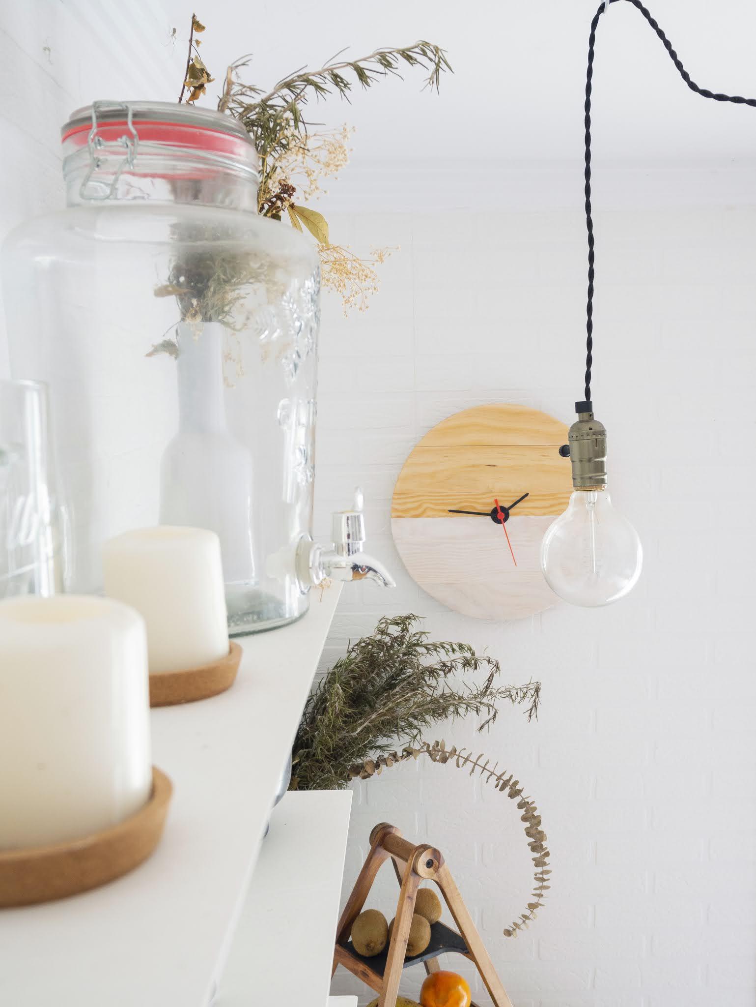 DIY Reloj de madera para nuestra cocina13