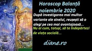 Horoscop Balanță noiembrie 2020