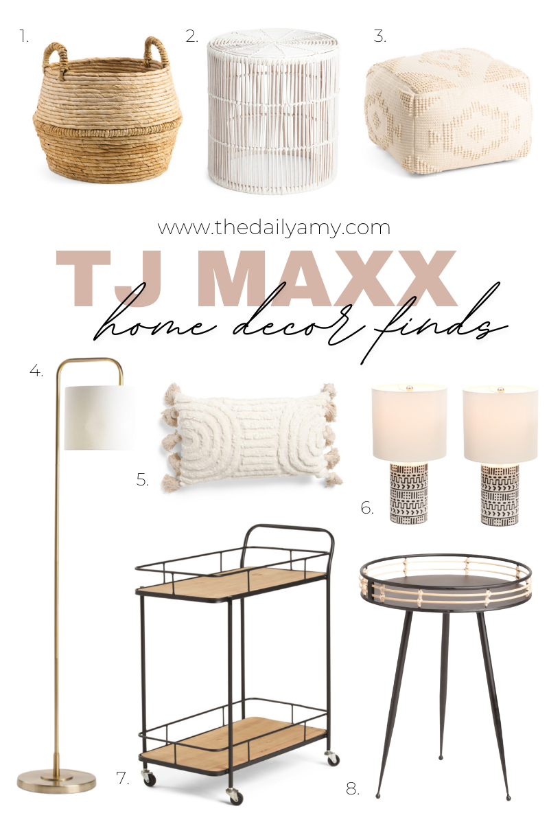 Affordable neutral home decor finds - tj Maxx