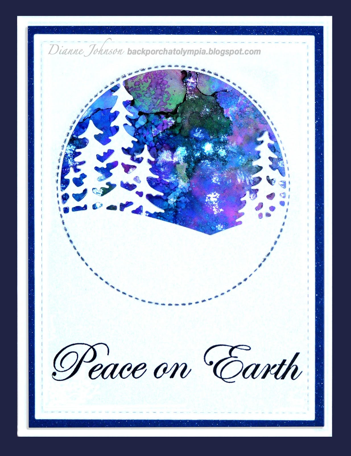 NEW D14458 Wood Mounted Stamp IMPRESSION OBSESSION Joyful Christmas Text