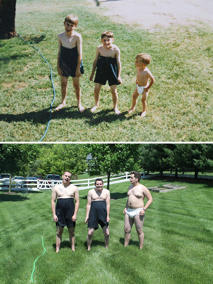 30 Beautiful Recreations Of Childhood Pictures - 18 Years Later