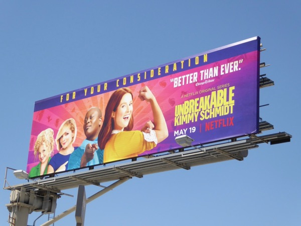 Unbreakable Kimmy Schmidt season 3 billboard