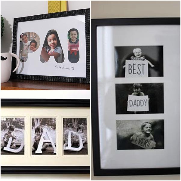 presentes criativos dia dos pais quadro com fotos