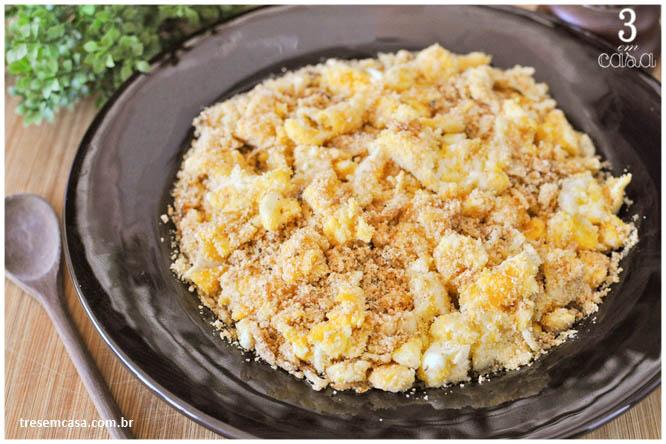receita de farofa de ovo