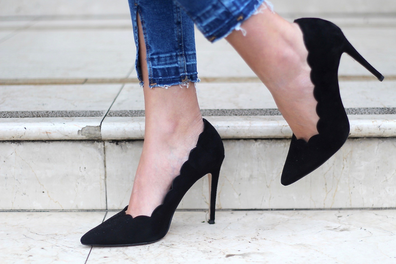 scallop trip suede heels dune london peexo