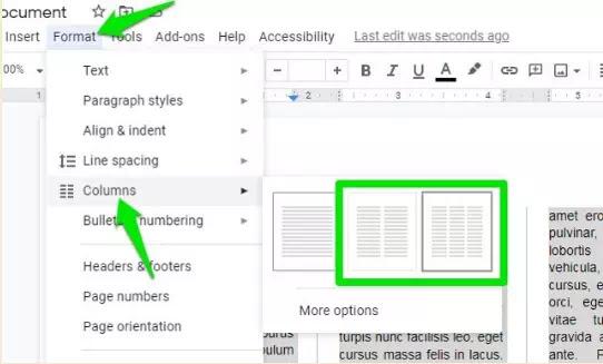 Cara Membuat Tulisan Kolom Koran di Google Documents-1