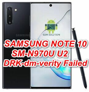 Samsung Note 10 SM-N970U Pie U2 V9.0 DRK-dm-verity Failed