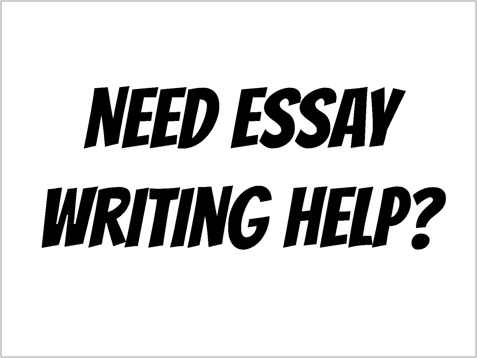 Essay Editing & Proofreading
