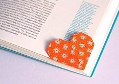 Origami Heart Bookmark You Can Make in Minutes! - DIY Candy | 358x508