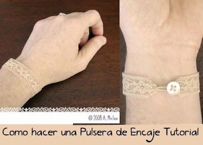 Como hacer una pulsera de encaje tutorial