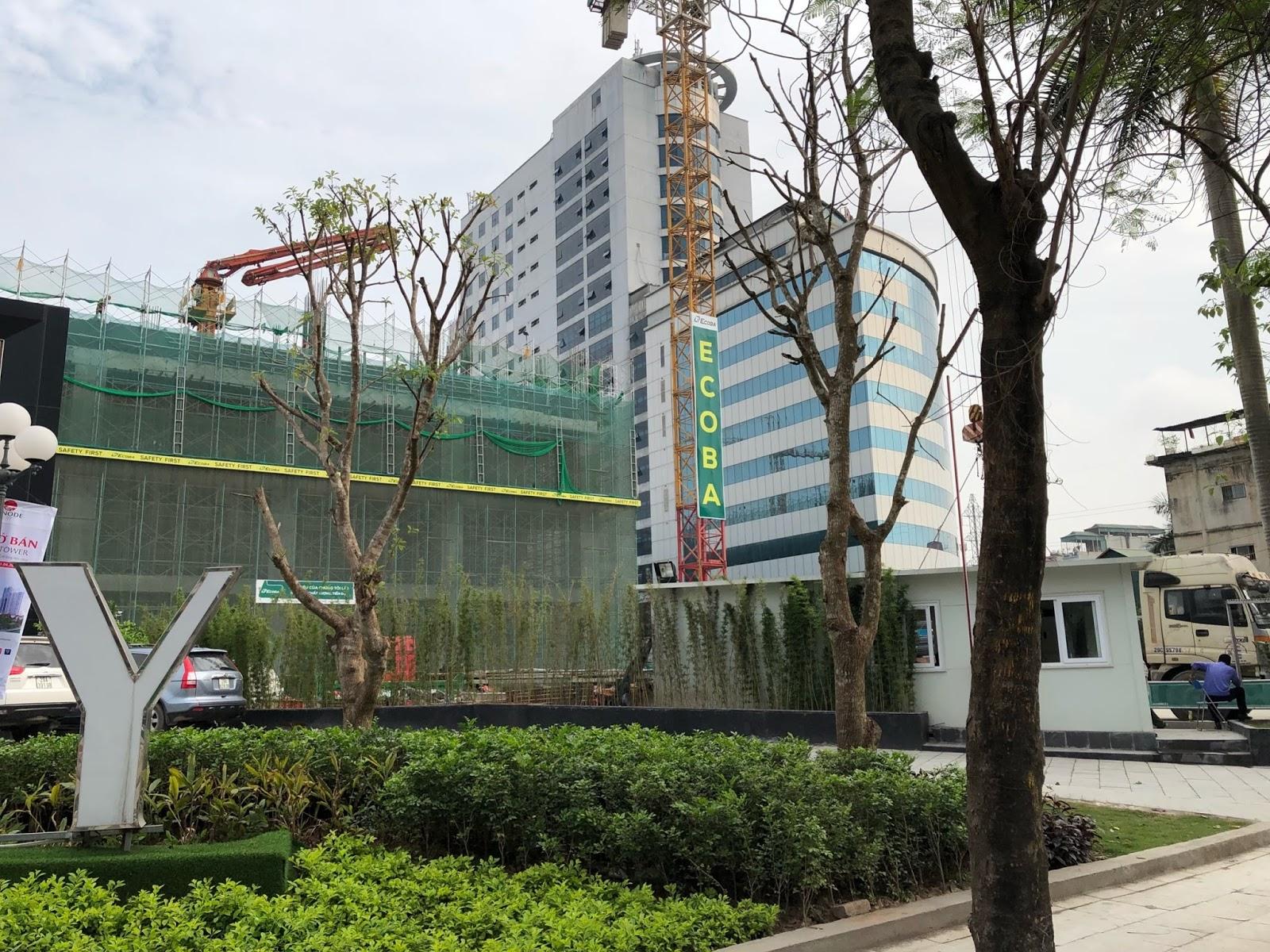 Tiến độ xây dựng toà Hi-Mark Tower Minh Khai