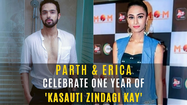 Good News : Parth Samthaan and Erica Fernandes celebrate one year of KZK 2 with cast members