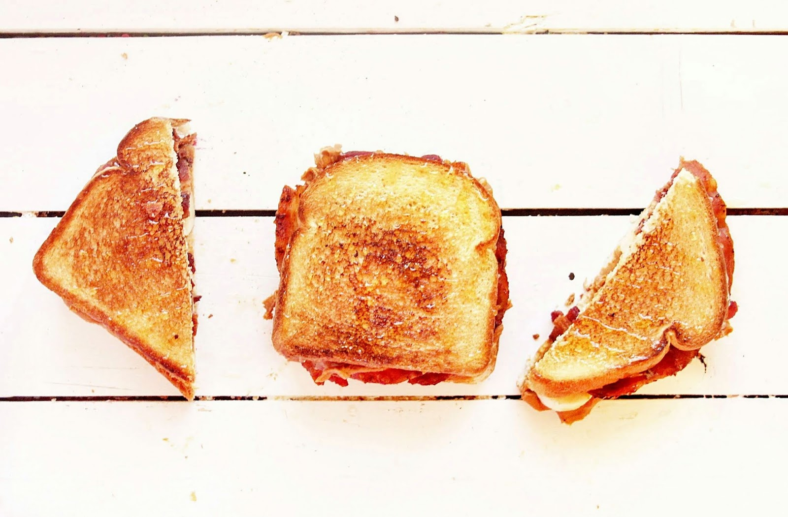 Bacon, peanut butter and banana make this sandwich oh-so-yummy!