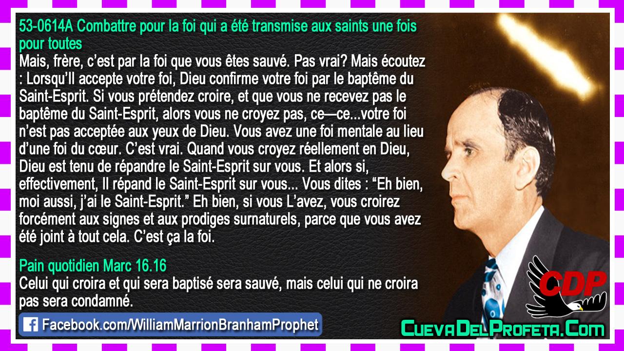 Vous avez une foi mentale au lieu d'une foi du cœur - William Marrion Branham