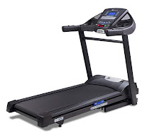 XTERRA Fitness TR300 Folding Treadmill, with 2.25 HP motor, 0-10 mph speed range, 0-10% electronically controlled incline, 24 preset programs