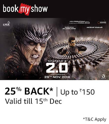 Film 2.0 in Hindi 25% Back* | Up To Rs150 Valid till 15th December