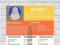Contoh Desain Curriculum Vitae Keren by Riyanti Noto Model 3