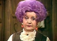 customer service: Mollie Sugden as Miss Slocombe in BBC's Are You Being Served?