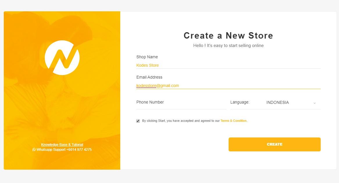 Create a New Store di AVANA