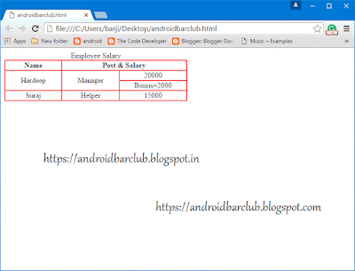 Html tables how to create html table in webpage and website for Table tag attributes in html
