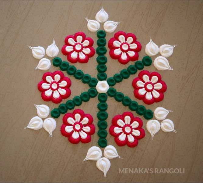 easy new simple rangoli design