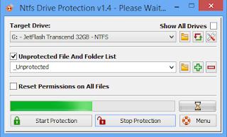 [جديد] برنامج حماية  Ntfs Drive Protection v1.4