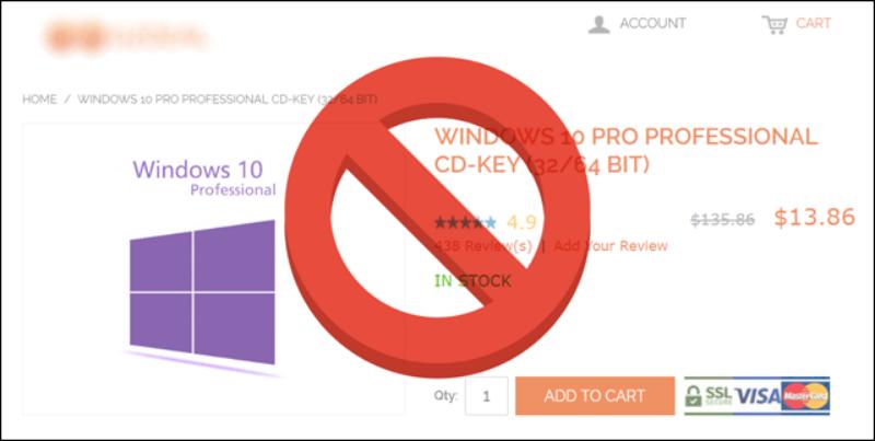 لماذا-لا-يجب-عليك-شراء-مفاتيح-سيريال- رخيصة-لتفعيل-ويندوز-10