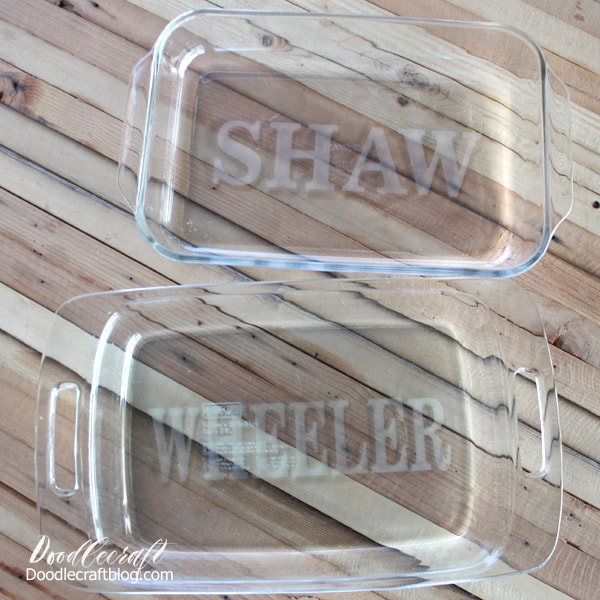 How to Etch Glass: Personalized Pyrex Dishes